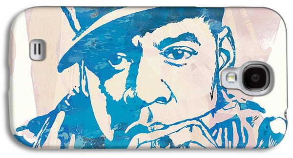 Jay-z  Etching Pop Art Poster Galaxy S4 Case by Kim Wang