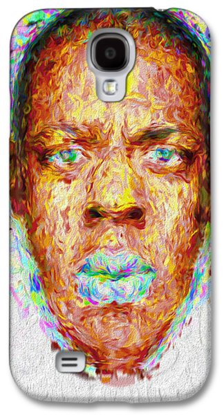Jay Z Painted Digitally 2 Galaxy S4 Case by David Haskett