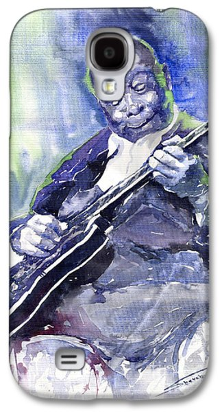 Jazz B B King 02 Galaxy S4 Case by Yuriy  Shevchuk