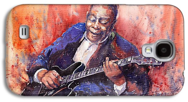 B Galaxy S4 Cases - Jazz B B King 06 a Galaxy S4 Case by Yuriy  Shevchuk