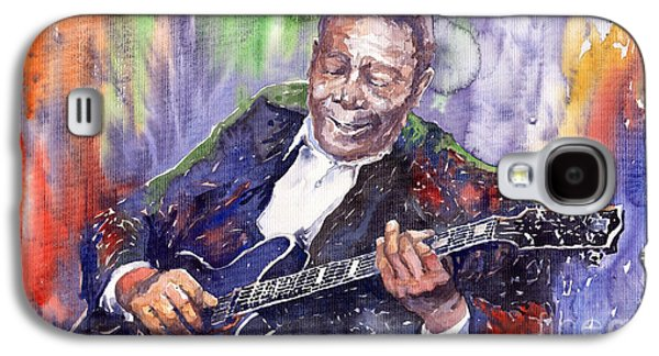 B Galaxy S4 Cases - Jazz B B King 06 Galaxy S4 Case by Yuriy  Shevchuk