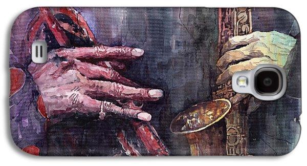 Jazz Batle Of Improvisation Galaxy S4 Case by Yuriy  Shevchuk