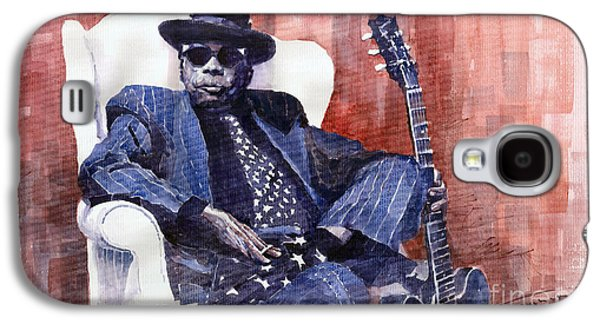 Jazz Bluesman John Lee Hooker 02 Galaxy S4 Case by Yuriy  Shevchuk
