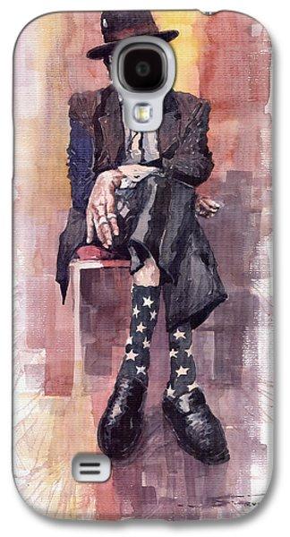 Legend Paintings Galaxy S4 Cases - Jazz Bluesman John Lee Hooker Galaxy S4 Case by Yuriy  Shevchuk