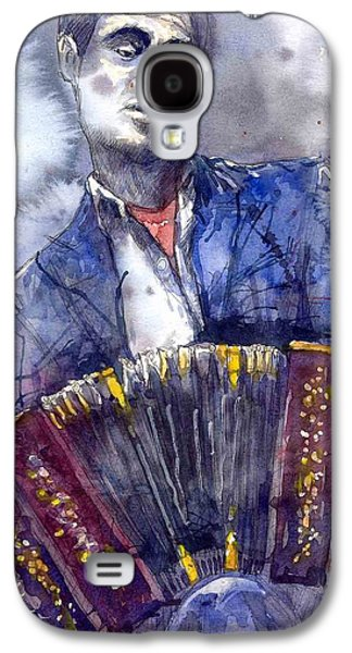 Jazz Concertina Player Galaxy S4 Case