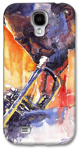 Jazz Miles Davis 9 Red Galaxy S4 Case by Yuriy  Shevchuk