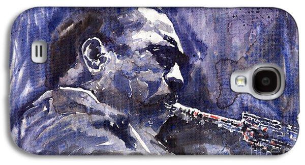 Saxophone Galaxy S4 Case - Jazz Saxophonist John Coltrane 01 by Yuriy Shevchuk