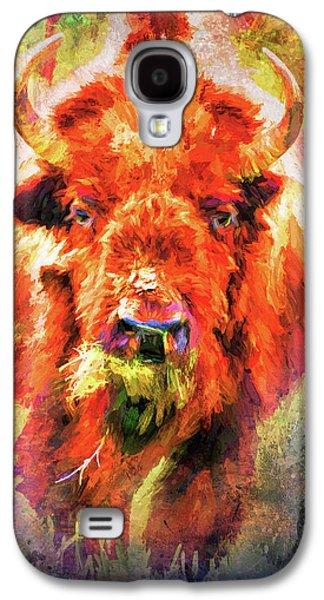 Jazzy Buffalo Colorful Animal Art By Jai Johnson Galaxy S4 Case