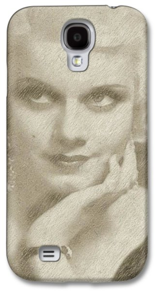 Jean Harlow Vintage Hollywood Actress Galaxy S4 Case by Frank Falcon