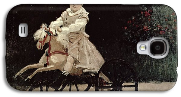 Jean Monet On His Hobby Horse Galaxy S4 Case by Claude Monet