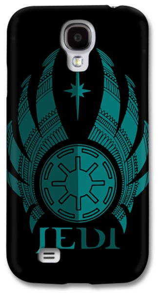 Jedi Symbol - Star Wars Art, Blue Galaxy S4 Case