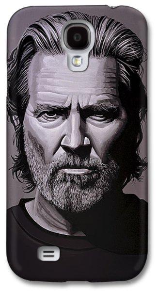 Jeff Bridges Painting Galaxy S4 Case by Paul Meijering