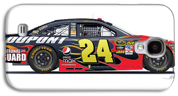 Jeff Gordon Nascar Image Galaxy S4 Case by Alain Jamar