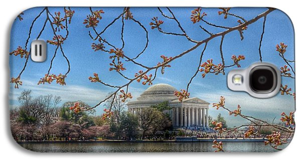 Jefferson Memorial Galaxy S4 Case - Jefferson Memorial - Cherry Blossoms by Marianna Mills