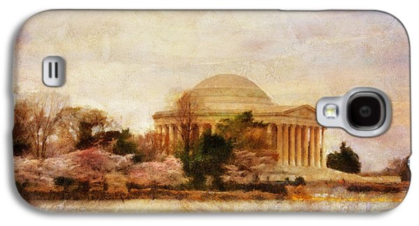 Jefferson Memorial Galaxy S4 Case - Jefferson Memorial Just Past Dawn by Lois Bryan