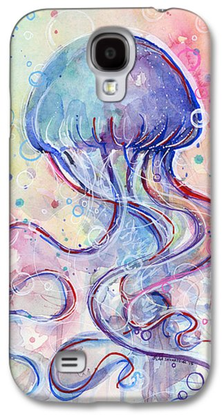 Jelly Fish Watercolor Galaxy S4 Case