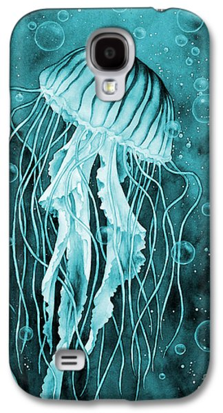 Jellyfish On Blue Galaxy S4 Case