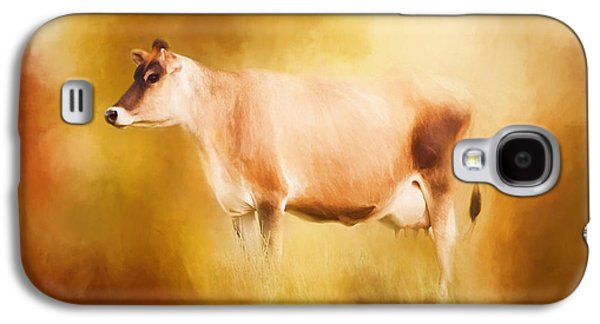 Jersey Cow In Field Galaxy S4 Case by Michelle Wrighton