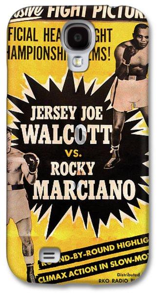 Jersey Joe Walcott Vs Rocky Marciano Galaxy S4 Case by Bill Cannon