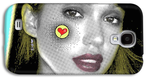 Jessica Alba Pop Art, Portrait, Contemporary Art On Canvas, Famous Celebrities Galaxy S4 Case by Dr Eight Love