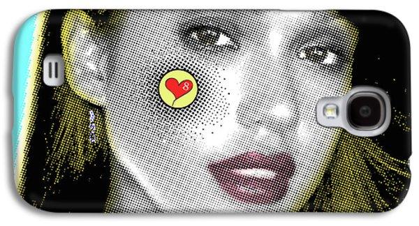 Jessica Alba Pop Art, Portrait, Contemporary Art On Canvas, Famous Celebrities Galaxy S4 Case