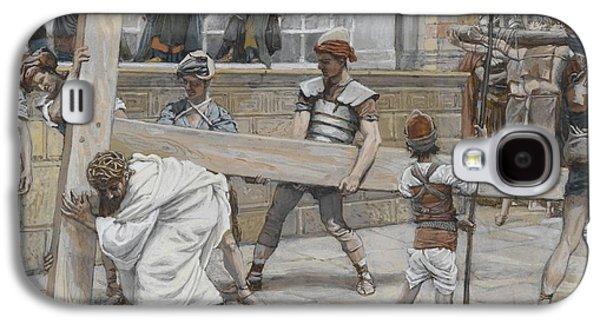 Jesus Bearing The Cross Galaxy S4 Case by Tissot