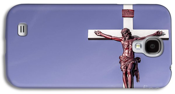 Jesus Crucifix Against The Sky Galaxy S4 Case by Gary Whitton