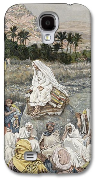 Jesus Preaching By The Seashore Galaxy S4 Case by Tissot