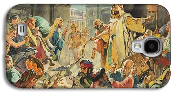 Jesus Removing The Money Lenders From The Temple Galaxy S4 Case by James Edwin McConnell