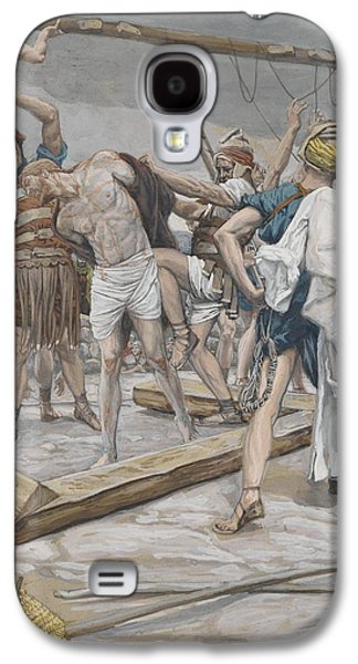 Jesus Stripped Of His Clothing Galaxy S4 Case by Tissot