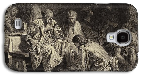 Jesus Washing The Disciples' Feet Galaxy S4 Case