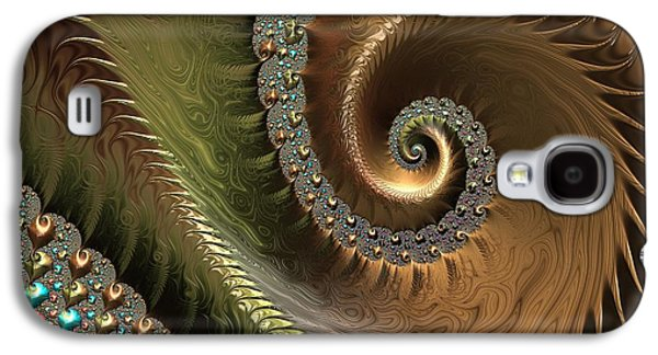 Jewel And Spiral Abstract Galaxy S4 Case by Marianna Mills