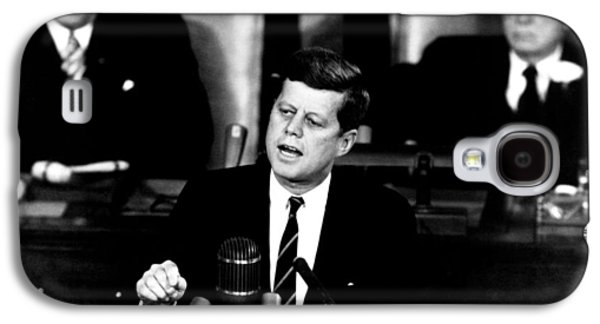Jfk Announces Moon Landing Mission Galaxy S4 Case by War Is Hell Store