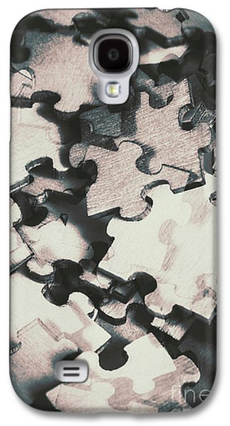 Jigsaws Of Double Exposure Galaxy S4 Case by Jorgo Photography - Wall Art Gallery