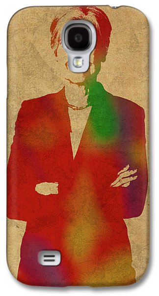 Jill Stein Green Party Political Figure Watercolor Portrait Galaxy S4 Case by Design Turnpike