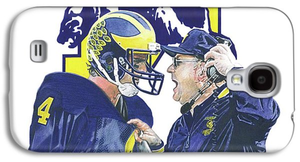 University Of Michigan Galaxy S4 Case - Jim Harbaugh And Bo Schembechler by Chris Brown