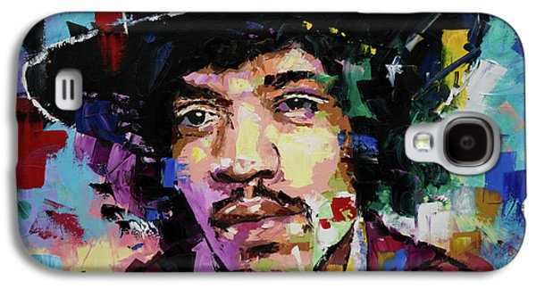 Jimi Hendrix Portrait II Galaxy S4 Case by Richard Day