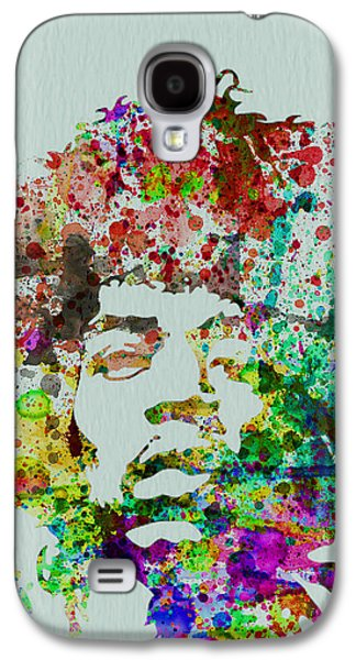 Colorful Paintings Galaxy S4 Cases - Jimmy Hendrix watercolor Galaxy S4 Case by Naxart Studio
