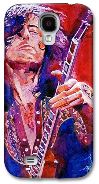 Musicians Galaxy S4 Case - Jimmy Page by David Lloyd Glover