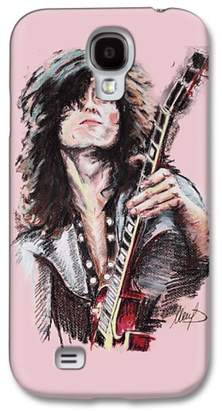 Jimmy Page Galaxy S4 Case by Melanie D
