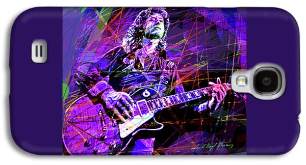 Jimmy Page Solos Galaxy S4 Case by David Lloyd Glover