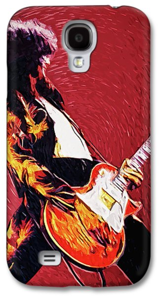 Jimmy Page  Galaxy S4 Case by Taylan Apukovska