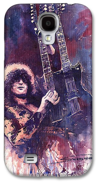 Musicians Galaxy S4 Case - Jimmy Page  by Yuriy Shevchuk