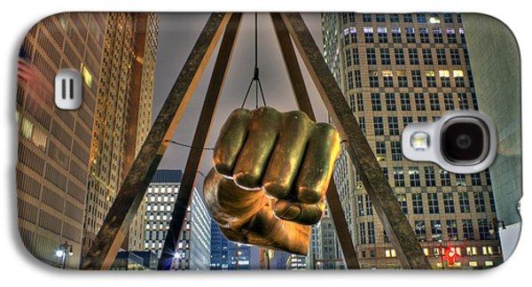 Electronic Galaxy S4 Cases - Joe Louis Fist Detroit MI Galaxy S4 Case by Nicholas  Grunas