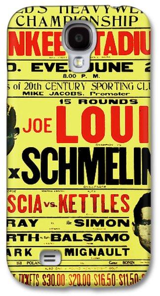 Joe Louis Vs Max Schmeling Galaxy S4 Case by Bill Cannon