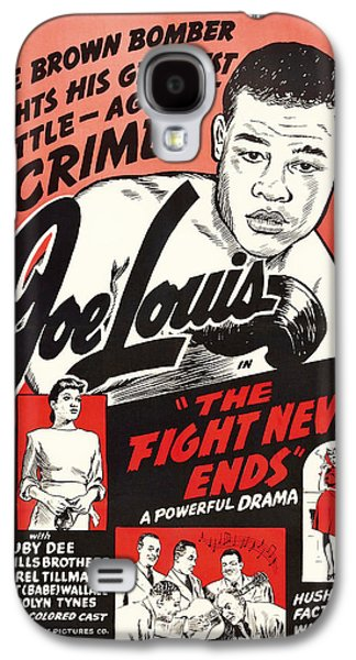 Joe Lous In The Fight Never Ends 1949 Galaxy S4 Case by Mountain Dreams