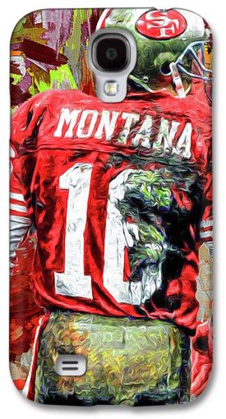 Joe Montana Football Digital Fantasy Painting San Francisco 49ers Galaxy S4 Case by David Haskett