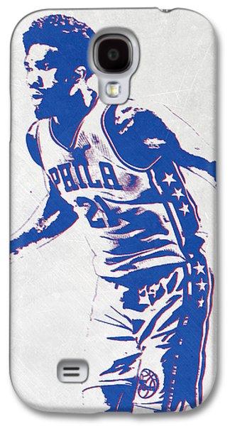 Joel Embiid Philadelphia Sixers Pixel Art Galaxy S4 Case