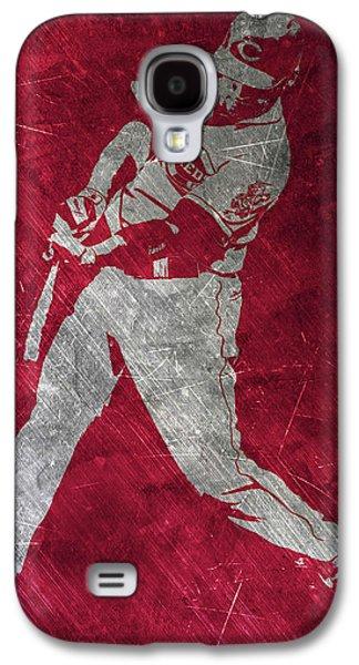 Joey Votto Cincinnati Reds Art Galaxy S4 Case by Joe Hamilton