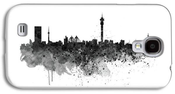 Johannesburg Black And White Skyline Galaxy S4 Case